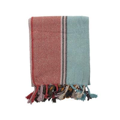 Plaid Pipa - algodon reciclado - rayas - textil dormitorio - multicolor - Liderlamp (2)