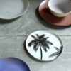 Plato Postre Porcelana Palmeras - HKliving - servir la mesa - menaje - Liderlamp (1)