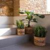 Set 3 Cestas Prisca - Jacinto de Agua - redondas con asas - color natural - Liderlamp (1)