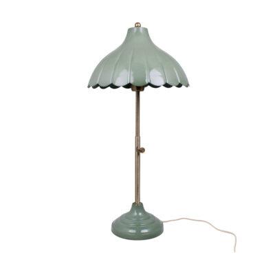 Sobremesa Cobett - verde antiguo y laton cepillado envejecido- retro - Liderlamp (1)