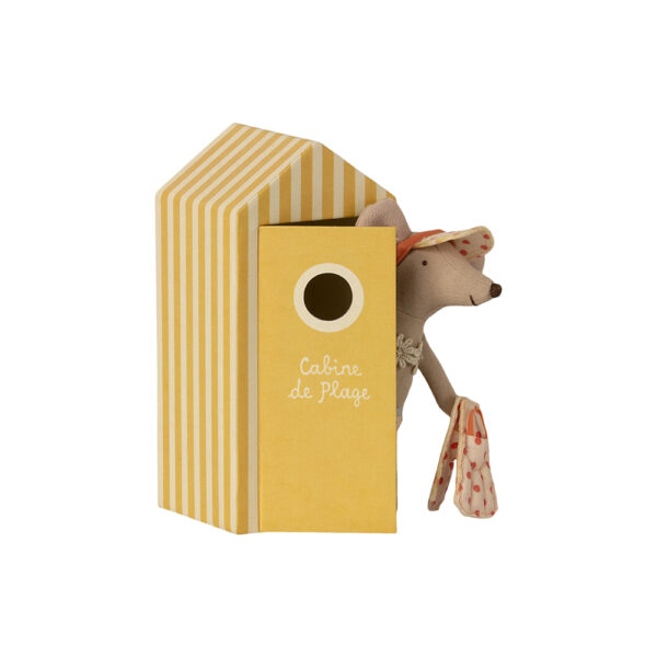 Caseta de Playa Amarilla + Raton Big Sister - Maileg - regalo ninos - Liderlamp (2)