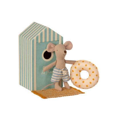 Caseta de Playa Mint + Raton Big Brother - Maileg - regalo ninos verano - Liderlamp (1)