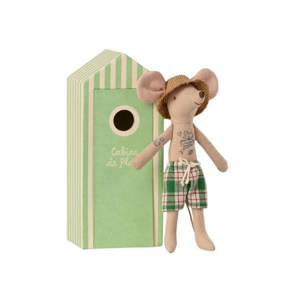 Caseta de Playa Verde + Papa Raton - Maileg - munecos - regalo niños - Liderlamp (1)