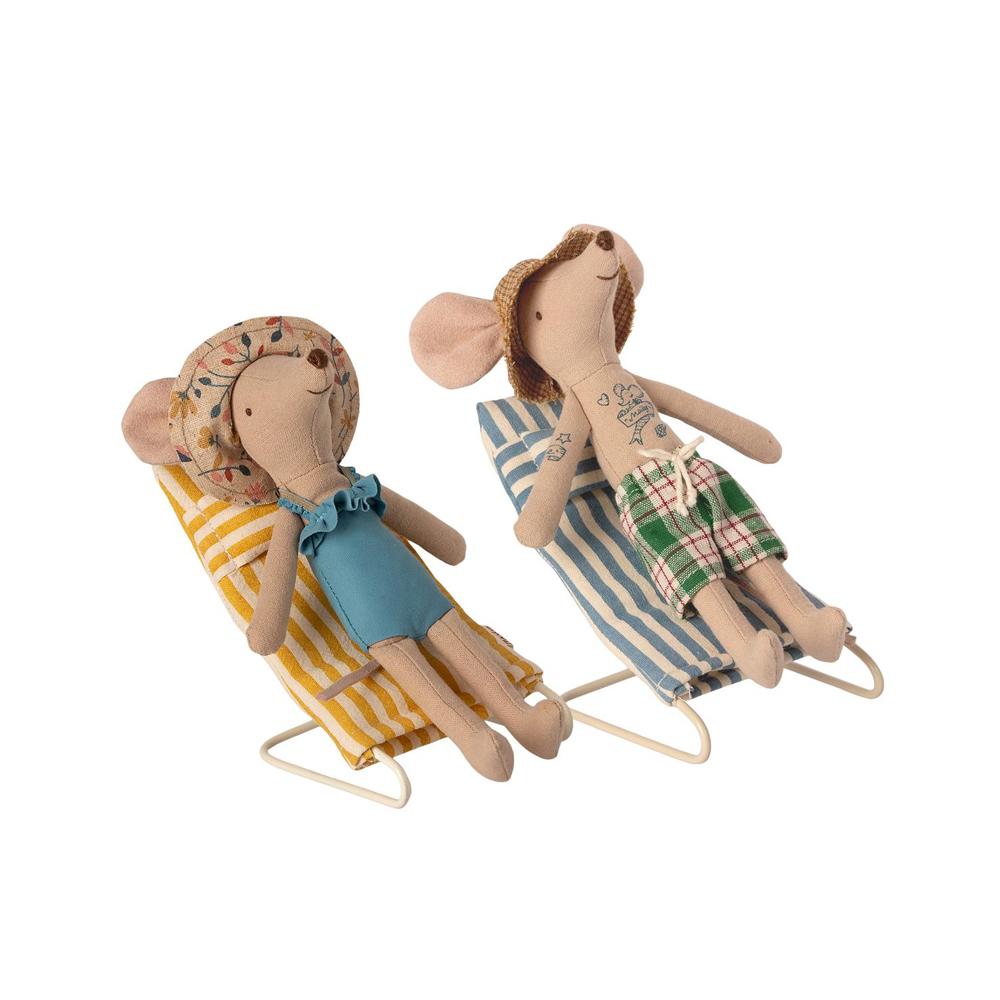 Tumbonas de Rayas Maileg - Ratones - regalo verano ninos - juguestes clasicos - Liderlamp (2)