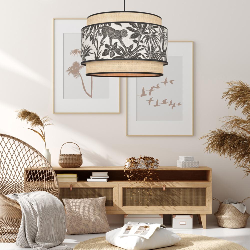 Espejo mimbre Hema - redondo - decoracion de pared - Liderlamp (1)