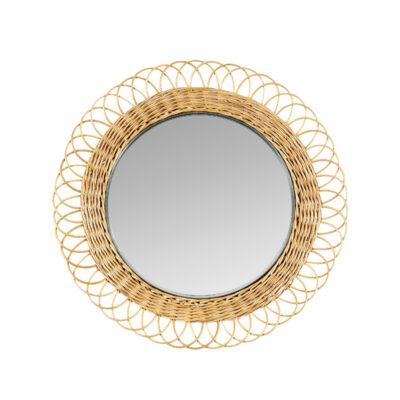 Espejo mimbre Pampeana - redondo - decoracion de pared - Liderlamp (1)