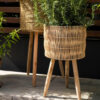 Macetero ombra - mimbre - decoracion plantas - interior - Liderlamp (2)