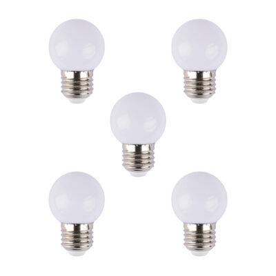 Pack 5 Bombillas Opal - Guirnalda de Exterior - Jardin - Terraza - Porche - Liderlamp (1)