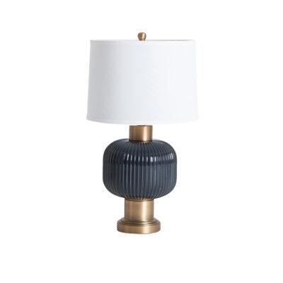 Sobremesa Sinatra - estilo clasico - pantalla de lino - lampara salon - Liderlamp (1)