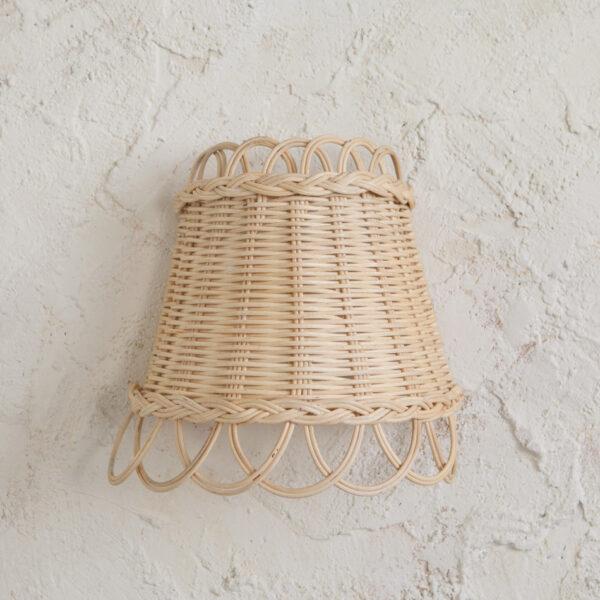 Aplique Maya - ratan - estilo mediterraneo - boho - fibras naturales - Liderlamp (2)