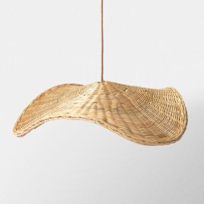 Colgante Kupu - ratan - estilo mediterraneo - boho - fibras naturales - Liderlamp