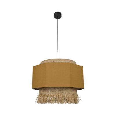 Colgante Marrakech - xl - rafia y lino - riad - hecho a mano - mediterraneo - Liderlamp (1)