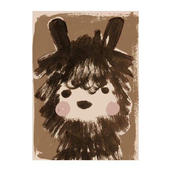 Lamina Alpaca - ilustracion ninos - deco infantil - colores tierra - Liderlamp (1)