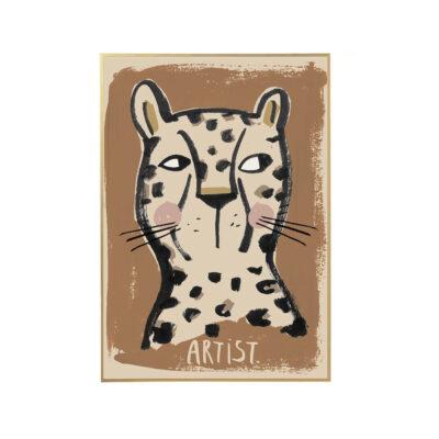 Lamina Leo - ilustracion ninos - deco infantil - cuadro - leopardo - Liderlamp (1)