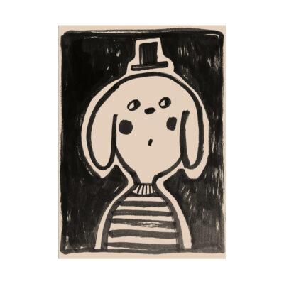 Lamina Lucky Star - ilustracion ninos - deco infantil - blanco y negro - Liderlamp (1)