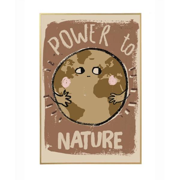 Lamina Power To Nature - ilustracion ninos - deco infantil - ecologia - Liderlamp (1)