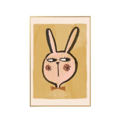 Lamina Rabbit Head - ilustracion ninos - deco infantil - cuadro - conejo - Liderlamp (1)