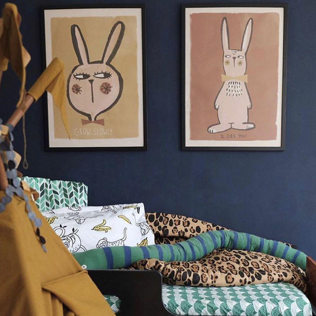 Lamina Rabbit - ilustracion ninos - deco infantil - cuadro - conejo - Liderlamp