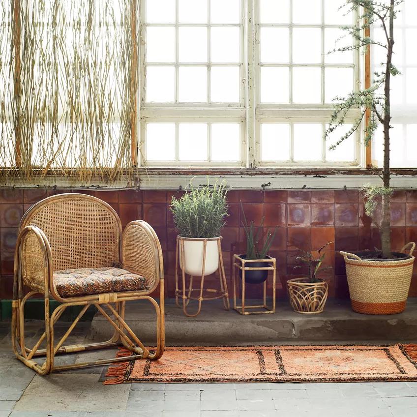 Macetero Bambu Ondas - cubre macetas - decoracion plantas interior - Liderlamp (1)