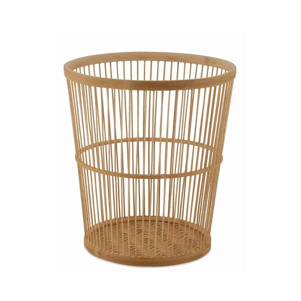 Papelera Bambu Cora - oficina en casa - despacho - estilo boho - Liderlamp