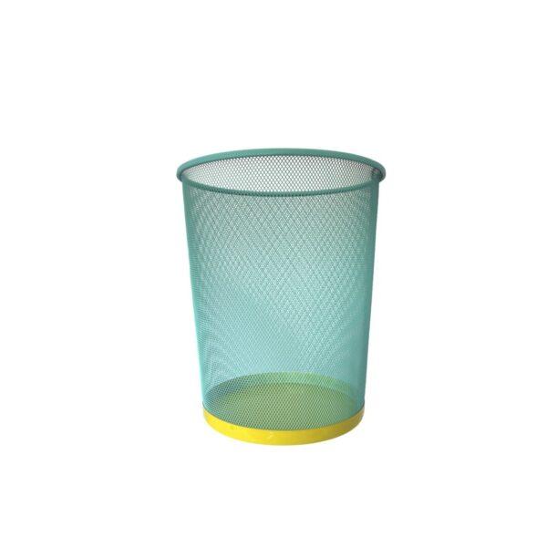 Papelera - color mint - oficina en casa - decoracion - metal bicolor - Liderlamp