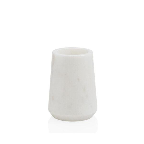 Portacepillos Valka - Marmol blanco - set de bano - estilo clasico - Liderlamp