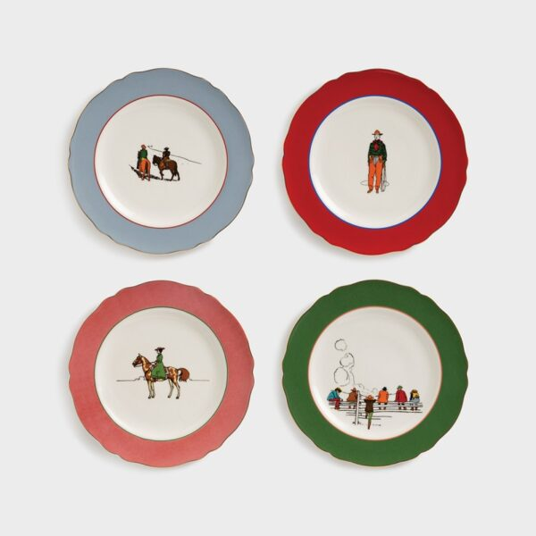 Set 4 Platos Western - porcelana - servir la mesa - mesas especiales - Liderlamp (3)