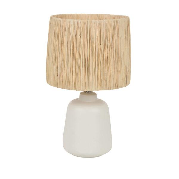 Sobremesa Paros - fibre natural - rafia - ceramica - lampara de mesa - Liderlamp (1)