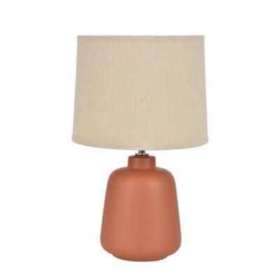 Sobremesa Paros - fibre natural - rafia - ceramica - lampara de mesa - terracota - Liderlamp (1)