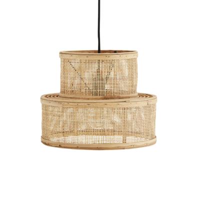 Colgante Kacem - ratan y rejilla - color natural - fibras naturales - Liderlamp (1)