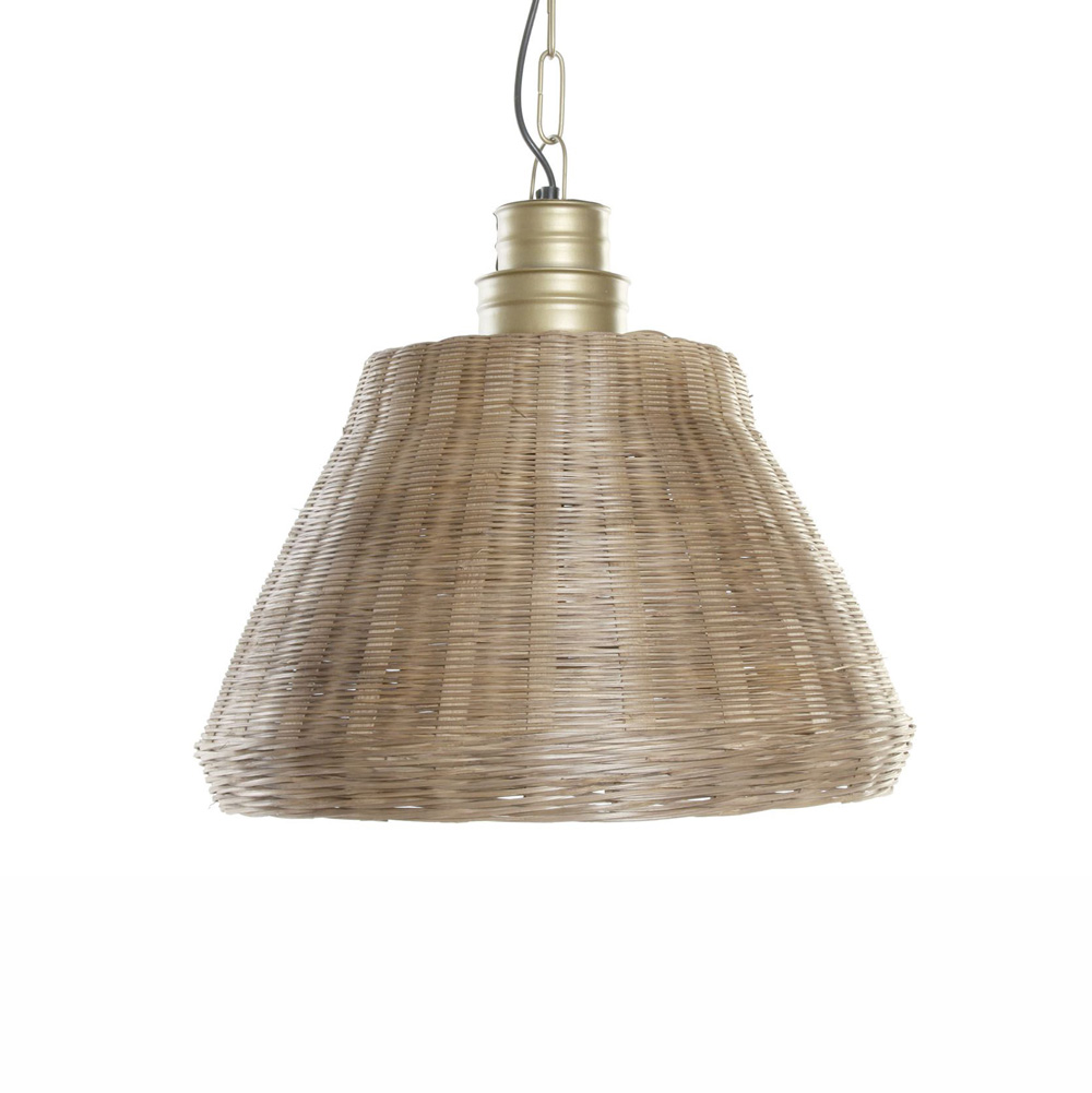 Colgante Mimbre Saillans - lampara de mimbre - estilo rustico - Liderlamp (1)