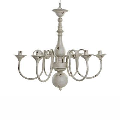 Colgante Pijp - lampara holandesa - metal envejecido - blanca - Liderlamp (1)