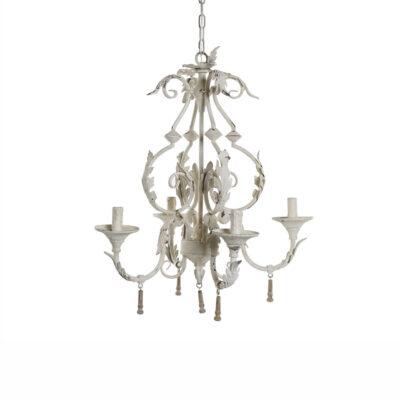 Colgante Zwolle - lampara de arana - metal envejecido - blanca - Liderlamp (1)
